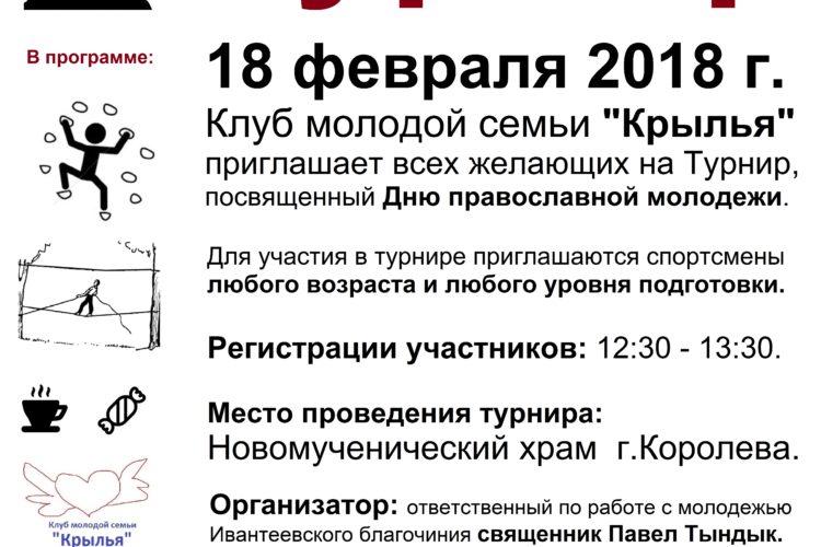 Турнир, посвященный Дню православной молодежи