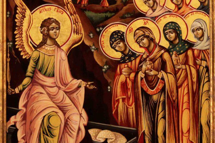 3 мая –святых жен-мироносиц: Марии Магдалины, Марии Клеоповой, Саломии, Иоанны, Марфы и Марии, Сусанны и иных; праведных Иосифа Аримафейского и Никодима