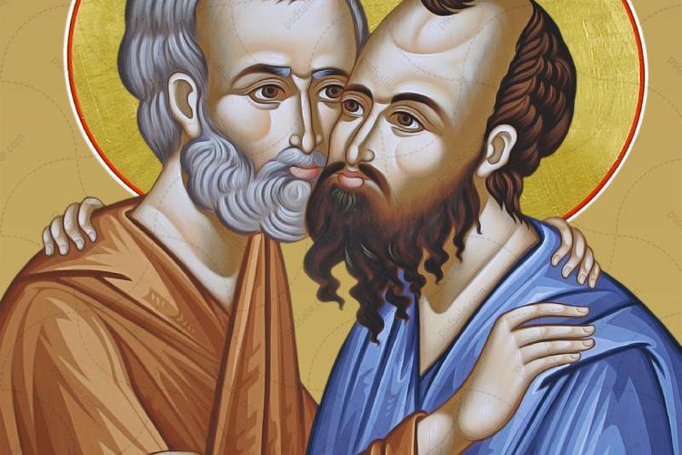12 июля — память славных и всехвальных первоверховных Апостолов Петра и Павла