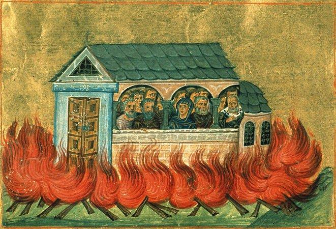 10 января – память мучеников 20000, в Никомидии  в церкви сожженных, и прочих, тамо же вне церкви пострадавших